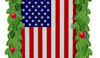 Illustration on the American Christmas tradition by Alexander Hunter/The Washington Times