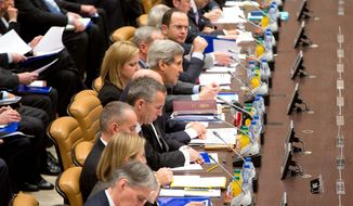 Secretary of State John F. Kerry led a meeting of the global coalition to counter the Islamic State militant group at NATO headquarters in Brussels on Wednesday. When Iraq pleaded for help in its fight against the Sunni extremists, France agreed to provide more military assistance. (Associated Press)