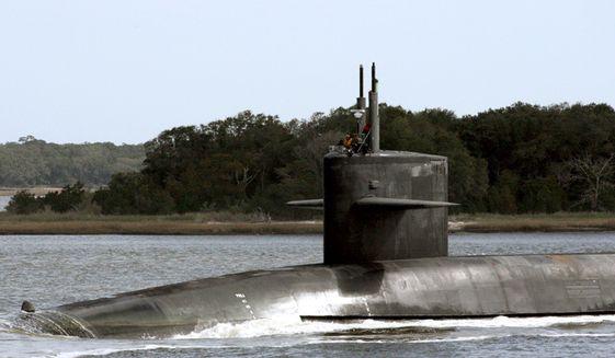 The Ohio-class ballistic missile submarine USS Wyoming. (U.S. Strategic Command)
