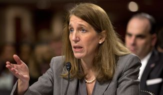 In this Nov. 12, 2014, file photo, Health and Human Services Secretary Sylvia Burwell testifies on Capitol Hill in Washington. (AP Photo/Jacquelyn Martin, File)