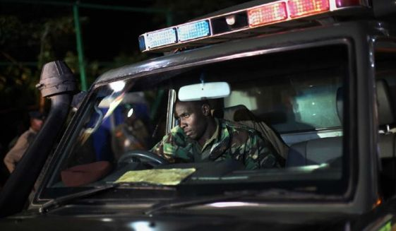 Kenyan Defense Forces patrol Nairobi, Kenya, Sept. 23, 2013. (Associated Press) ** FILE **