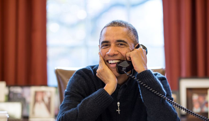 President Obama speaks on the phone in the Oval Office in this undated photo. (Official White House Photo by Pete Souza)