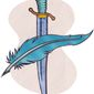 Thomas Pain Pen and Washington Sword Illustration by Greg Groesch/The Washington Times