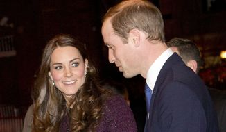 Kate, left, Duchess of Cambridge and Britain's Prince William arrive at The Carlyle hotel, Sunday, Dec. 7, 2014, in New York. They have a full schedule of events in New York, including a visit to the National Sept. 11 Memorial and Museum and an NBA basketball game between the Brooklyn Nets and the Cleveland Cavaliers. (AP Photo/New York Post, Chad Rachman, Pool)