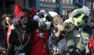 """Wikipedia describes """"furry fandom"""" as a subculture interested in fictional anthropomorphic animal characters with human personalities and characteristics. (Wikimedia Commons)"""