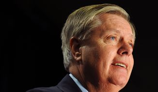 Sen. Lindsey Graham, R-S.C., speaks in Columbia, S.C., in this Nov. 4, 2014, file photo. (AP Photo/Rainier Ehrhardt, File)