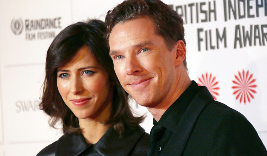 Actor Benedict Cumberbatch and Sophie Hunter arrive for the British Independent Film Awards at Old Billingsgate Market in central London, Sunday, Dec. 7, 2014. (Photo by Joel Ryan/Invision/AP)