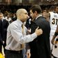 Virginia Commonwealth coach Shaka Smart (left) and then-Butler coach Brad Stevens were considered the hottest young coaches on the market after meeting in the 2011 Final Four. (Associated PRess)