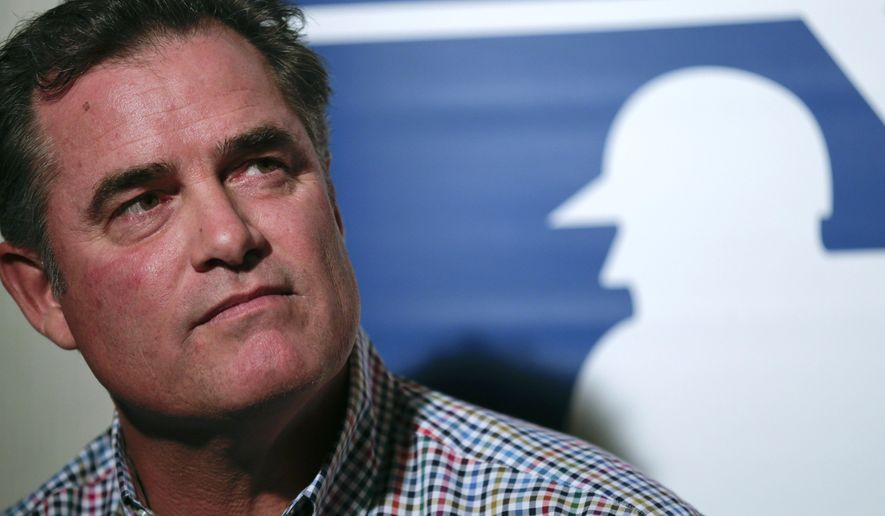 Boston Red Sox manager John Farrell speaks to reporters during Major League Baseball's winter meetings Monday, Dec. 8, 2014, in San Diego. Baseball's winter meetings opened Monday, as players and teams waited for Jon Lester to make a decision and start defining the pitching market. (AP Photo/Gregory Bull)