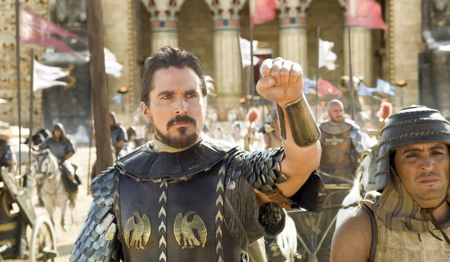 "This image released by 20th Century Fox shows Christian Bale in a scene from ""Exodus: Gods and Kings.""  (AP Photo/20th Century Fox)"