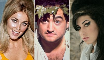 Sharon Tate, John Belushi, Amy Winehouse