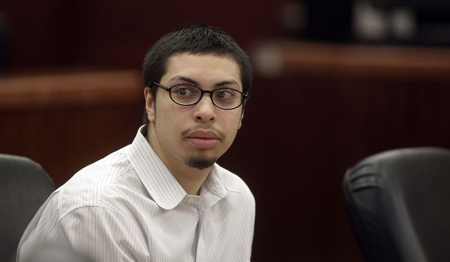 FILE - This Monday, Dec. 8, 2014 file photo shows Jose Reyes, accused of killing Corriann Cervantes, as his trial begins at the Harris County Criminal Courthouse in Houston. Prosecutors say Reyes is responsible for the February death of 15-year-old Cervantes in a vacant apartment southeast of Houston. (AP Photo/Houston Chronicle, Mayra Beltran, File)