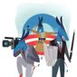 Illustration on media protection of the Obama administration by Linas Garsys/The Washington Times