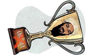 Obama's Osama bin Laden Trophy Illustration by Greg Groesch/The Washington Times