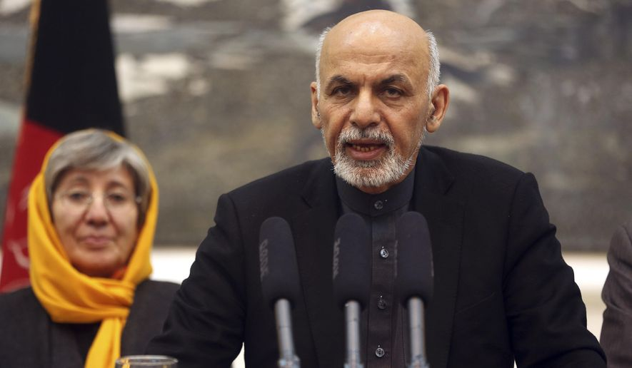 "Afghanistan's President Ashraf Ghani speaks during a press conference at the presidential palace in Kabul, Afghanistan Wednesday, Dec. 10, 2014. Ghani said, ""The Afghan government condemns in the strongest language the inhuman and unjustifiable practices detailed in the report."" (AP Photo/Massoud Hossaini)"