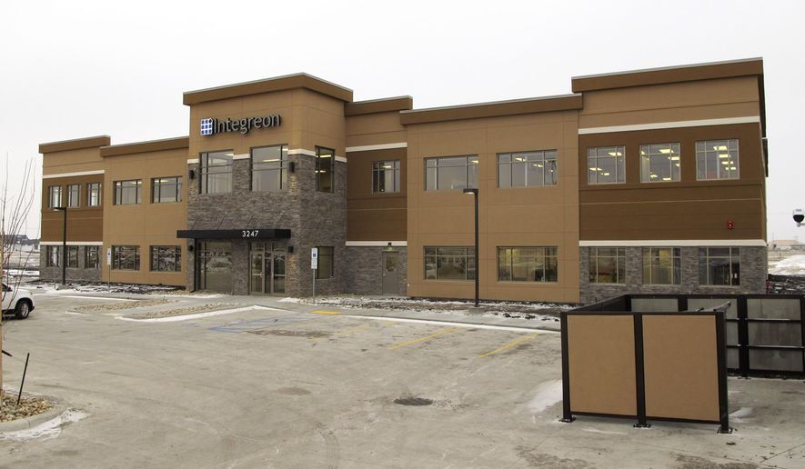 The 34,000-square-foot building of global professional services company Integreon, is seen Wednesday, Dec. 10, 2014, in Fargo, N.D. The company held a ribbon-cutting ceremony Wednesday for its new facility. The company has been in Fargo since 2001 but has never had its own building. (AP Photo/Dave Kolpack)