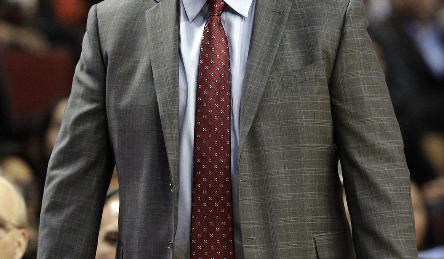 Chicago Bulls head coach Tom Thibodeau reacts to a call during the first half of an NBA basketball game against the Brooklyn Nets in Chicago on Wednesday, Dec. 10, 2014. (AP Photo/Nam Y. Huh)