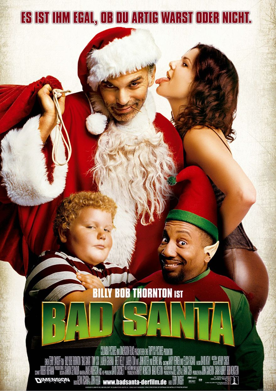 bad santa 2003 a christmas black comedy crime film directed by terry zwigoff - Top 10 Best Christmas Movies