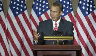 House Speaker John Boehner of Ohio. (AP Photo/Evan Vucci)