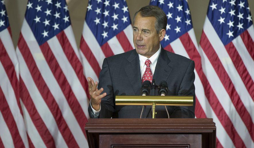 House Speaker John Boehner of Ohio. (AP Photo/Evan Vucci)