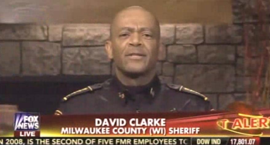Milwaukee's tough-talking sheriff, David Clarke. (Fox News via The Daily Surge) ** FILE **