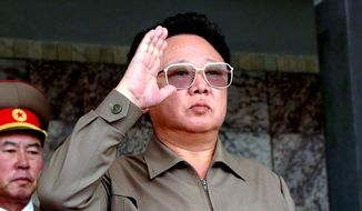 A secret North Korean document obtained by Western intelligence states the late dictator Kim Jong-Il conceived and directed a program to kidnap foreigners and bring them back to his communist country to force them to become spies against their home countries, The Washington Times has learned. (Associated Press/Korea News Service)