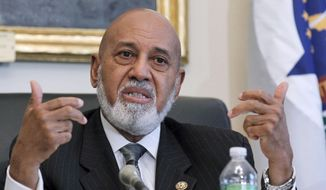 In this May 19, 2010, file photo, Rep. Alcee Hastings, D-Fla. speaks on Capitol Hill in Washington. (AP Photo/Manuel Balce Ceneta, File)