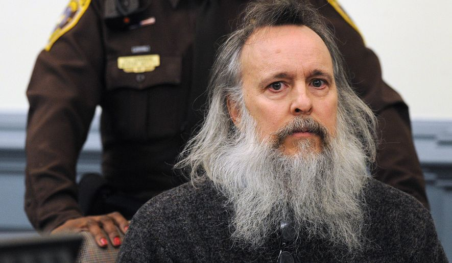 Charles Severance appears in Alexandria Circuit Court on Thursday, Dec. 11, 2014, in Alexandria, Va. Severance is accused of three murders over the course of a decade in Alexandria. Judge Jane Roush ordered a competency evaluation for Severance. (AP Photo/The Washington Post, Matt McClain, Pool)