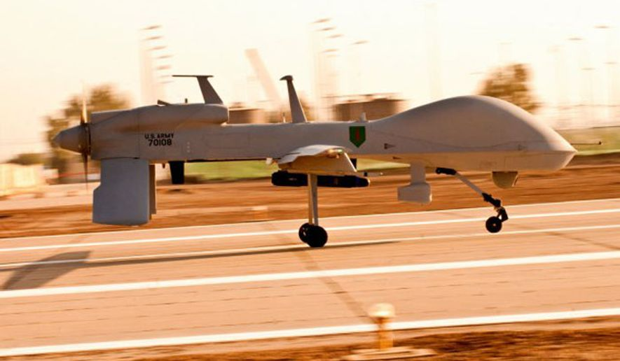 An MQ-1C Gray Eagle unmanned aircraft. (Image: U.S. Army)