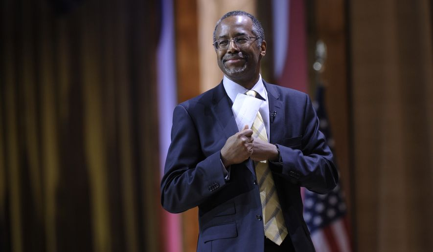 """It's a fact-finding mission,"" said Dr. Ben Carson, who told The Washington Times he looks forward to immersing himself in Israel's history as well as its current situation, ""which is always different than what you read, so that will provide firsthand knowledge."" (Associated Press)"