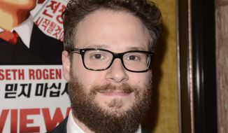 "Actor Seth Rogen attends the premiere of the feature film ""The Interview"" in Los Angeles on Thursday, Dec. 11, 2014. (Photo by Dan Steinberg/Invision/AP Images)"