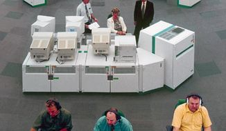 This is an undated handout photo issued by NATS via the Press Association  of the National Air Traffic Control Centre at Swanwick southern England. The European air control agency Eurocontrol says London airspace has been closed due to a computer failure. Officials at London Heathrow Airport said Friday Dec. 12, 2014 there is a power outage at the NATS control center in Swanwick, England. Its statement gave no indication how long this situation was expected to continue.  (AP Photo/NATS, PA) UNITED KINGDOM OUT NO SALES NO ARCHIVE
