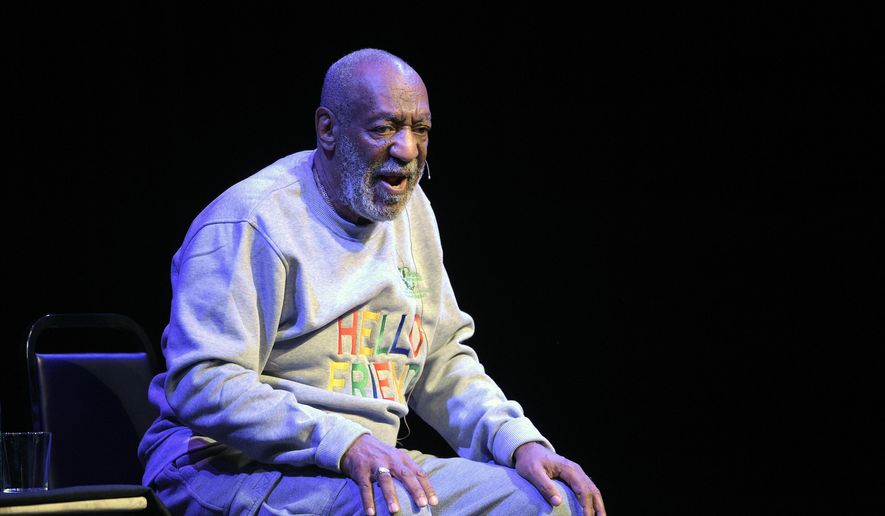 FILE - In this Nov. 21, 2014 file photo, comedian Bill Cosby performs during a show at the Maxwell C. King Center for the Performing Arts in Melbourne, Fla. For five decades, Bill Cosby maintained a busy standup career even as his TV visibility rose and fell and new generations of comedians took center stage. But the renewal of sexual assault claims that have soured TV and other comeback deals for Cosby are undermining the live performances that represent his direct avenue to fans and a semblance of business as usual. (AP Photo/Phelan M. Ebenhack, File)