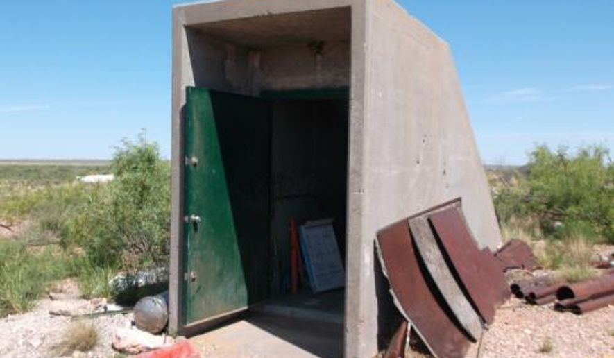 This undated photo provided by Jim Moore, shows an underground missile silo outside of Roswell, N.M.  The silo is on the market for $295,000. The deal includes 25 acres of surrounding land and 280 acres of water rights.  The silo, which is about 20 miles outside of Roswell, used to house an Atlas missile.  (AP Photo/Courtesy of Jim Moore)