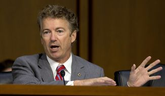 Sen. Rand Paul, R-Ky., speaks on Capitol Hill in Washington in this Sept. 17, 2014, file photo. (AP Photo/Carolyn Kaster, File)