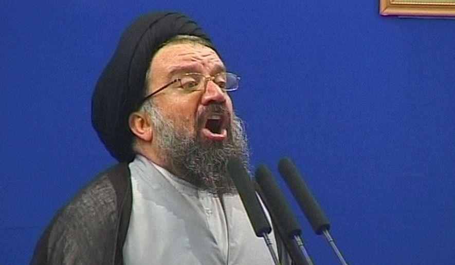 Iran's Ayatollah Seyed Ahmad Khatami (Associated Press) **FILE**