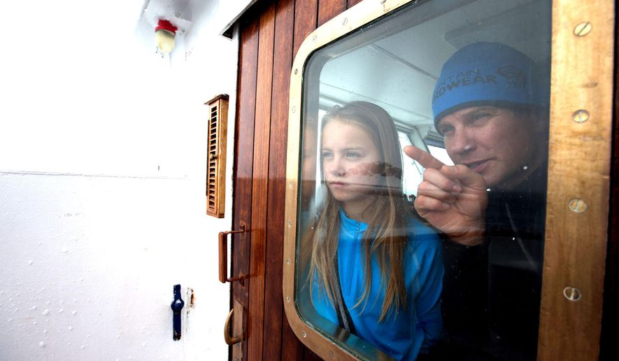 This 2014 photo shows Mike Libecki and his daughter Lilliana, 11, during their trip to Antartica. The daddy-daughter trip to Antarctica was six years in the making. Training for the harsh conditions started two years ago, when Lilliana was 9 years old. Instead of heading for the familiar runs at Alta Ski Resort, the Libeckis headed for the backcountry. (AP Photo/Mike Schirf via The Salt Lake Tribune) MANDATORY CREDIT
