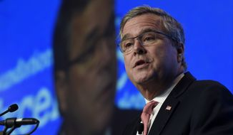 Former Florida Gov. Jeb Bush speaks in Washington in this Nov. 20, 2014, file photo. (AP Photo/Susan Walsh, File)
