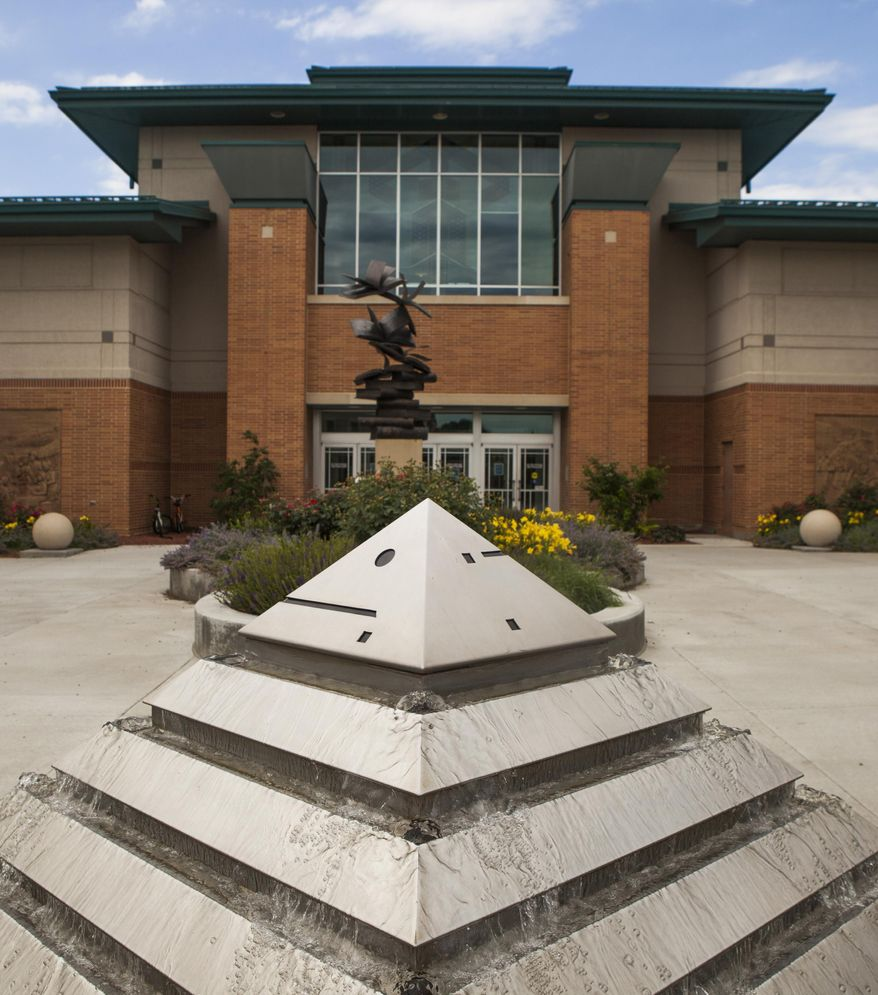 This June 27, 2013 photo shows the Council Bluffs Public Library in Council Bluffs, Iowa. A $34,600 grant from Google will help the Council Bluffs Public Library create a so-called makerspace, where people can use high-tech tools, such as a 3D printer. The library's foundation has agreed to match the Internet company's contribution to help cover costs, The Daily Nonpareil reported. (AP Photo/The Daily Nonpareil, Kyle Bruggeman)