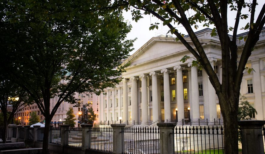 The U.S Treasury Building in Washington, D.C. (Associated Press)
