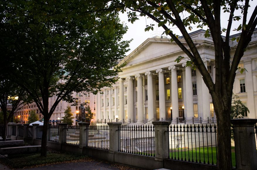 The U.S Treasury Building in Washington, D.C. (Associated Press)