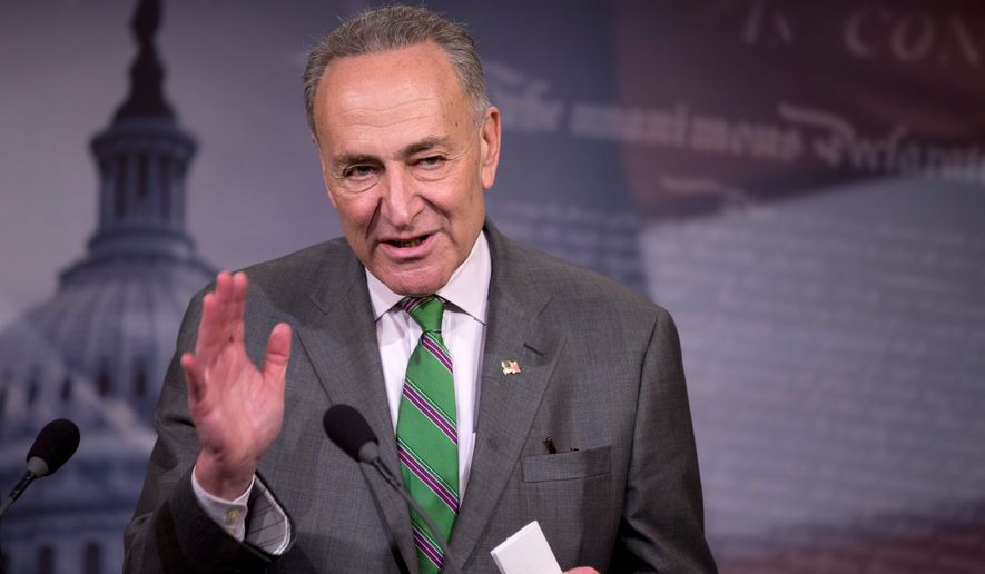 With a new Congress set to convene in January, Republicans are casting their lot with Democratic New York Sen. Charles Schumer, whose more moderate policies the GOP believes it can work with over the far more liberal beliefs trumpeted by Democratic Sen. Elizabeth Warren of Massachusetts. (Associated Press)