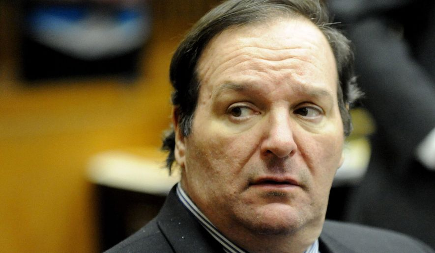FILE - In this Dec. 10, 2014 file photo is Robert Bashara in Frank Murphy Hall of Justice in Detroit. The former Rotary Club president charged with arranging his wife's murder in 2012 while he was having affairs and exploring bondage and masochism. (AP Photo/Detroit News, David Coates, File)