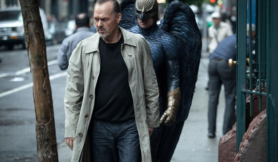 """In this image released by Fox Searchlight Pictures, Michael Keaton portrays Riggan in a scene from """"Birdman."""" """"Birdman,"""" ''Boyhood"""" and a host of now regulars on the awards circuit were among the top films listed in the 20th Critics' Choice Movie Awards nominations Monday, Dec. 15, 2014.  (AP Photo/Fox Searchlight, Atsushi Nishijima)"""