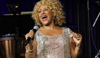 "In this Oct. 17, 2013, file photo, singer Darlene Love performs at the""Right To Rock Benefit"" at Cipriani Wall Street in New York. Love will sing ""Christmas (Baby Please Come Home)"" for the 21st and final time on Letterman's annual holiday show. (Photo by Greg Allen/Invision/AP, File)"