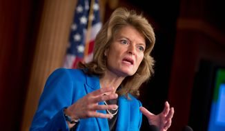 """Sen. Lisa Murkowski, Alaska Republican, offered muted protest when President Obama declared Bristol Bay exempt from energy exploration indefinitely. """"It is incredibly frustrating that this administration looks at Alaska ... and decides that conservation is our most pressing need,"""" she said. (Associated Press)"""