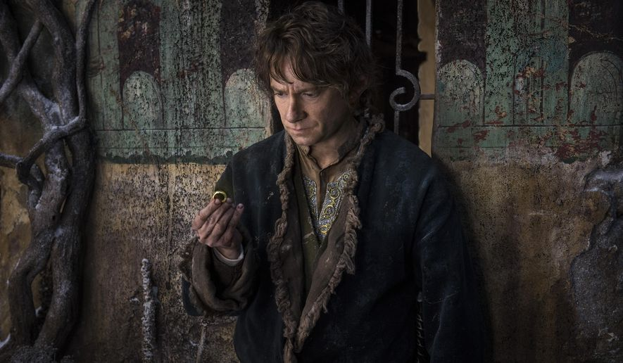 "In this image released by Warner Bros. Pictures, Martin Freeman appears in a scene from ""The Hobbit: The Battle of the Five Armies."" (AP Photo/Warner Bros. Pictures, Mark Pokorny)"