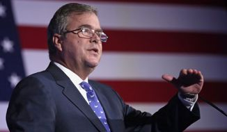 If Jeb Bush — the younger son of the 41st president and the brother of the 43rd commander in chief — is to blaze his own path to the nomination, it may have to follow the script of another famous Republican who fell from conservative grace yet captured the GOP's seal of approval: the 2012 version of Mitt Romney. (Associated Press)