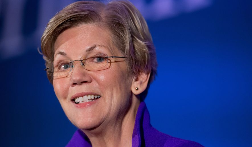 """Democracy for America and MoveOn.org are committing funds to """"draft"""" Sen. Elizabeth Warren, Massachusetts Democrat, to run for president. (Associated Press)"""