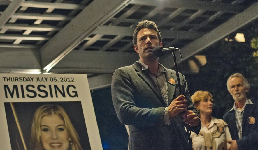 "This image released by 20th Century Fox shows Ben Affleck in a scene from ""Gone Girl.""  The film, released in 2014, is based on the best-selling book by Gillian Flynn. (AP Photo/20th Century Fox, Merrick Morton)"